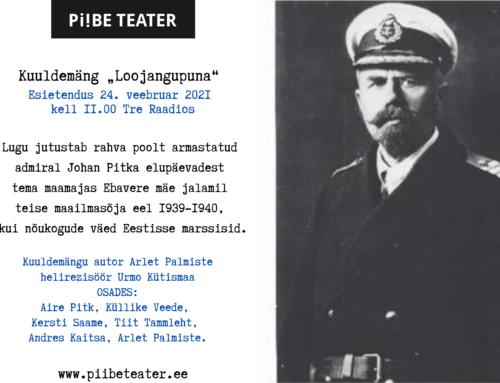 """Piibe Teatril esietendub 24.02.2021 kell 11.00 Kesk-Eesti Tre Raadios kuuldemäng """"Loojangupuna""""."""